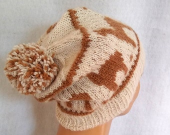knit alpaca hat Borgstein Alpaca Farm
