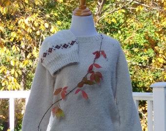 alpaca pull-over sweater handknit