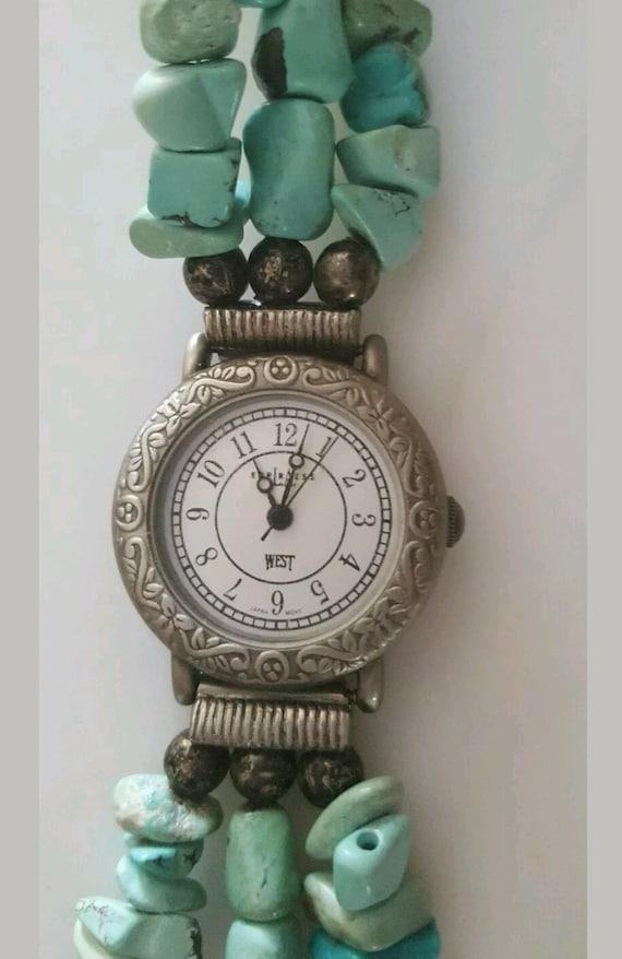 True Vintage 80s Turquoise Watch