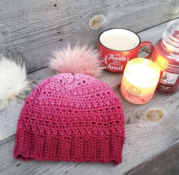 Arctic Ombre Beanie Crochet Pattern Crochet Hat Pattern Etsy