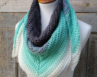 Mandala Triangle Scarf Crochet Pattern, One Skein Crochet Pattern, Beginner Crochet Pattern, Easy Christmas Crochet Pattern