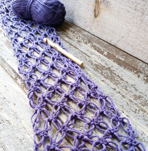 Celtic Love Knot Scarf Crochet Pattern Inspired By Claire Etsy