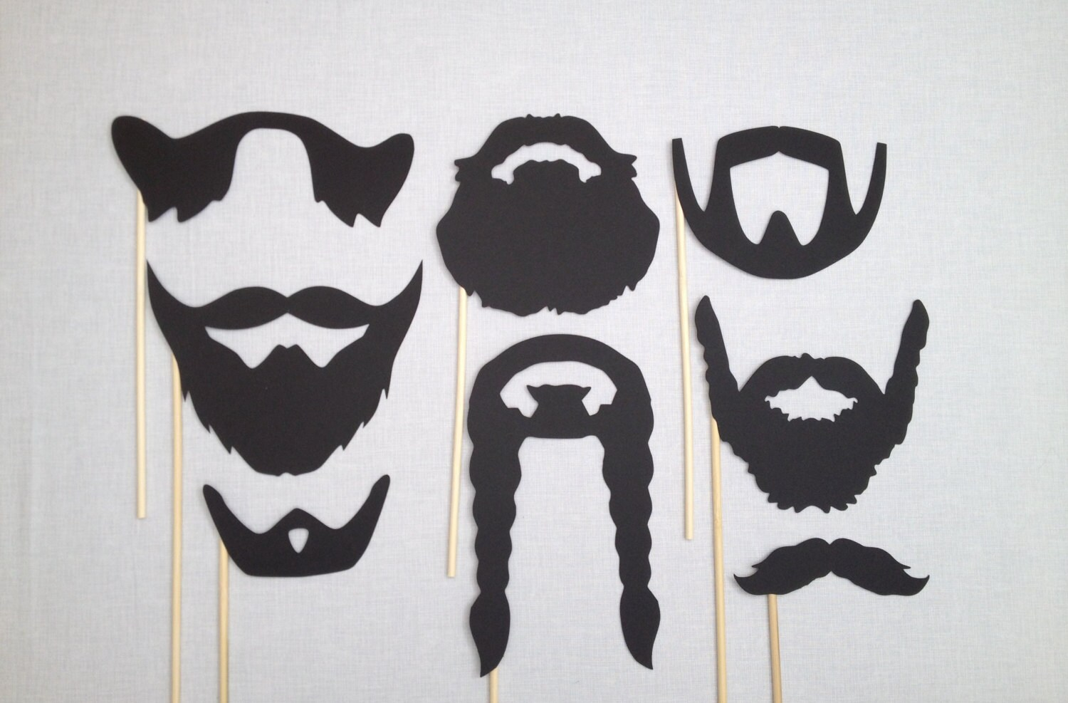 8 Beard Photo Booth Props Movember Wedding Photo Booth Etsy