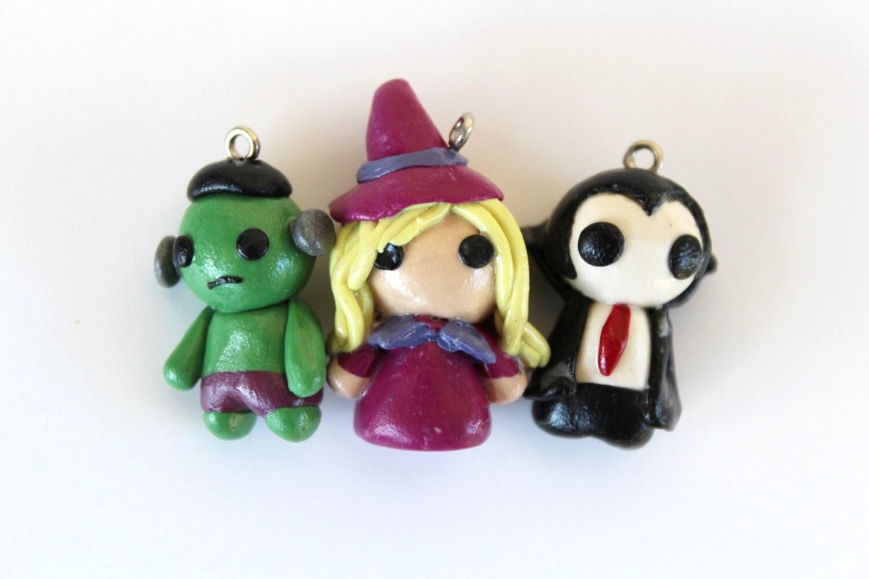 halloween miniature figurines charm dust plug key chain   etsy
