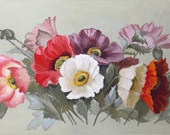 Personalised Large Wedding Flowers Decorative Painting for your Home