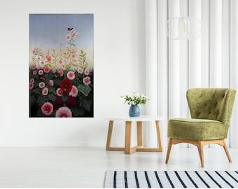 Large Floral Decorative Painting for your Home