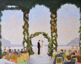 Custom Painting from Photo Personalized Wedding Gift