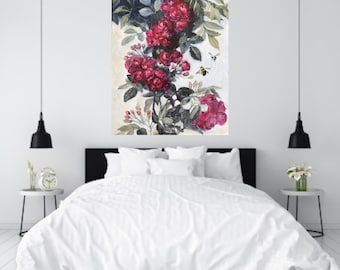 Custom Painted Large Wedding Flowers Painting for your Home