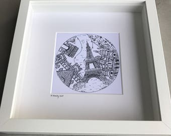 City pen drawings - Original
