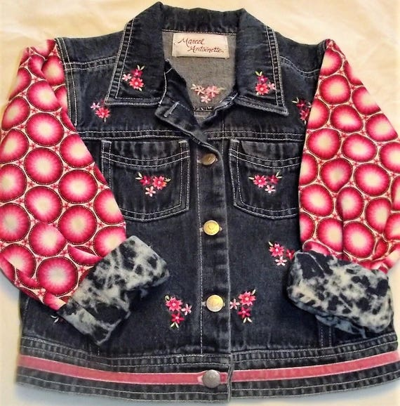 Refurbished Denim Girls Jacket, Size 5/6