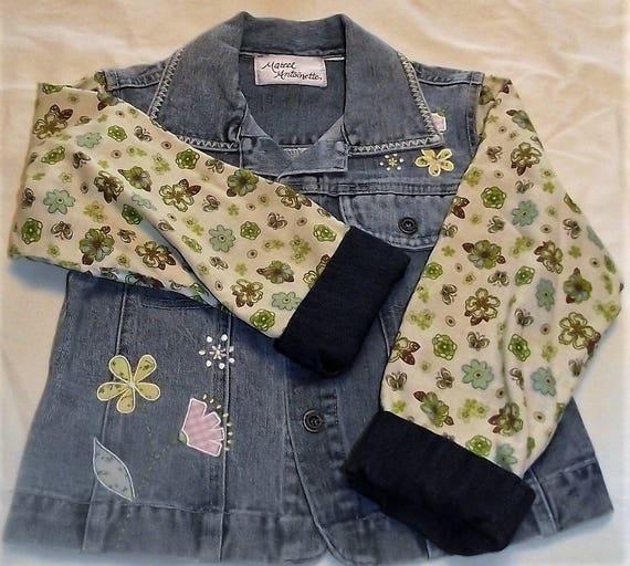 Refurbished Denim Girls Jacket, Size 7