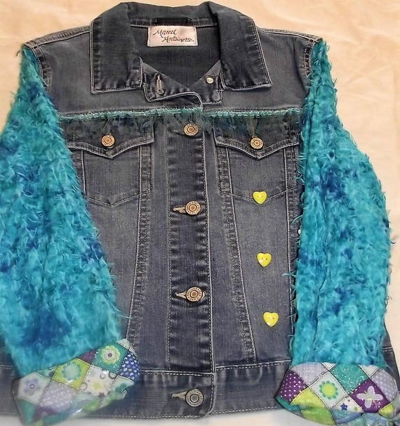 Refurbished Denim Girls Jacket, Size 10