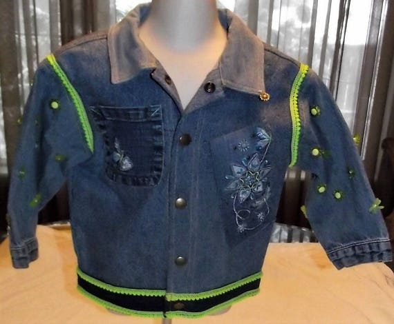 Refurbished Denim Girls Jacket, Size 2T