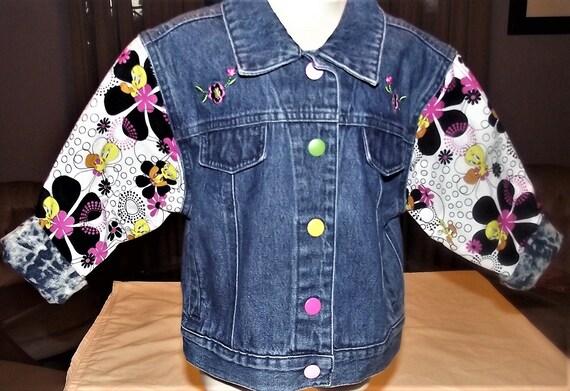 Refurbished Denim Infants Girl Jacket, Size 4T