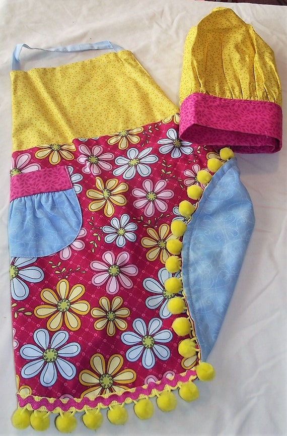 The Baker is in the House! Reversible Apron with adjustable chef hat