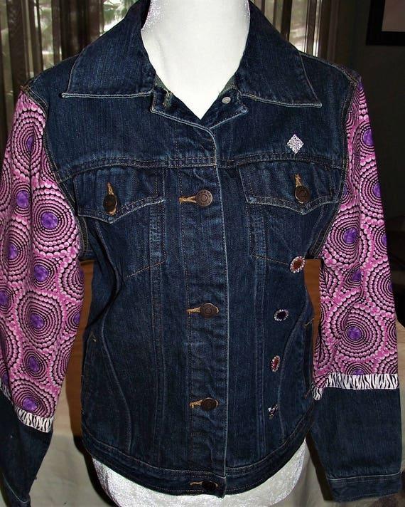 Refurbished Denim Womens Jacket, Size-small