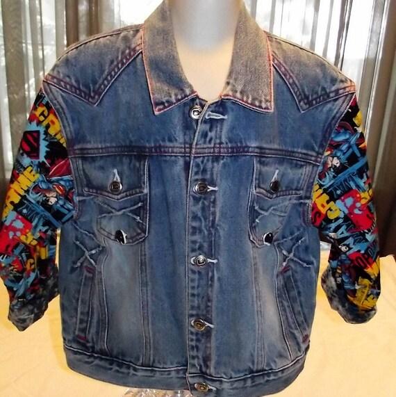 Refurbished Denim Jacket, Size 6