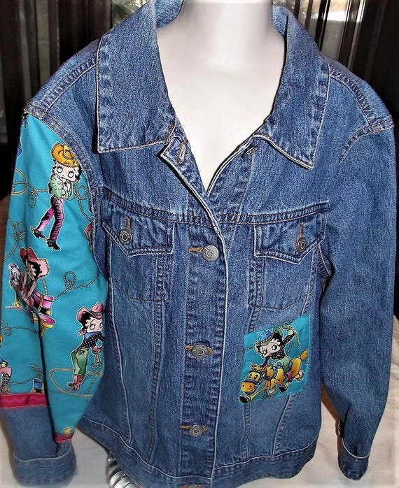 Refurbished Womens Denim Jacket, Size Sm
