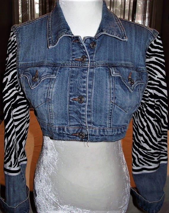 Refurbished Womens Denim Jacket-Size Med