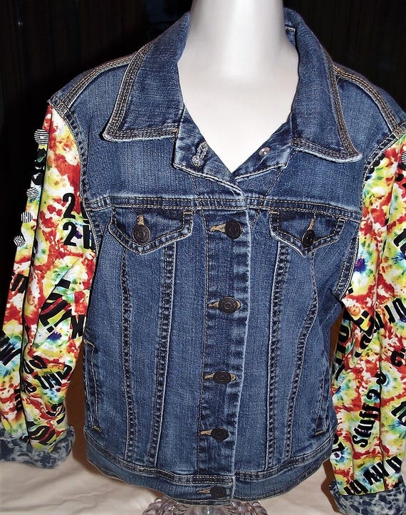 Refurbished Denim Girls Jacket, Size 7/8