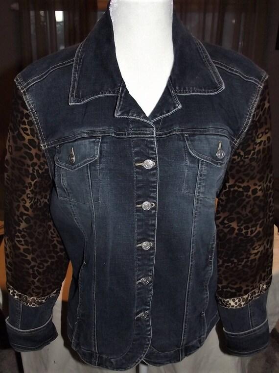 Refurbished Womens Denim Jacket-Size Xlrg