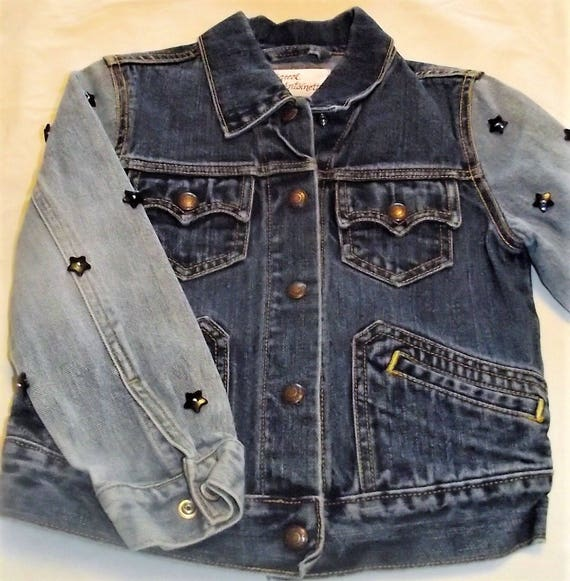 Refurbished Denim Girls Jacket, Size 6
