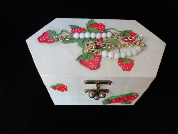 Vintage Wooden Strawberry Purse