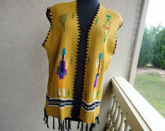 Knitted Vest With Fringe