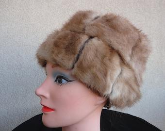 Vintage Mink And Leather Hat