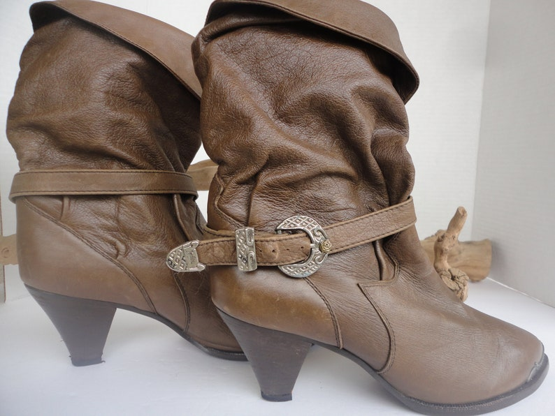 54d588c508e5c Zodiac Leather Boots With Ankle Strap