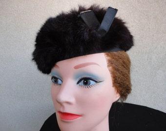 Vintage Rabbit Fur Hat