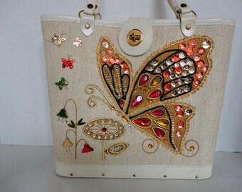 Vintage Butterfly Box Purse