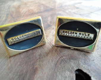 Vintage Golden Rule Cuff Links