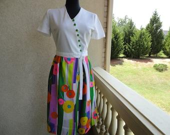 Cute Mod Print Dress