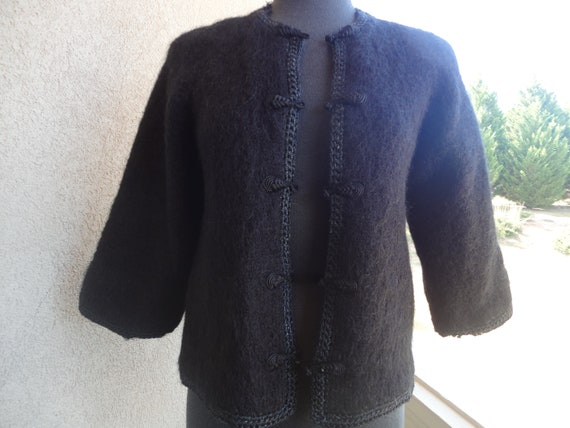 Black Mohair Sweater
