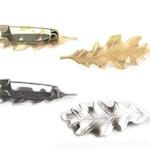 Oak Leaf Brooch / Gold Oak Leaf Pin / Silver Leaf Jewelry / Forest Brooch / Forest Weddings Gift / Nature Pin / Fall Weddings Gift / Autumn