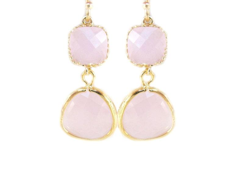 eafd17ca2380 Pendientes Rosas de Cristal. Pendientes de Fiesta Rosados.