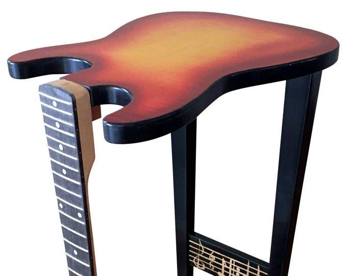 Fender Guitar End Table - Fiddleback Maple Sun Burst