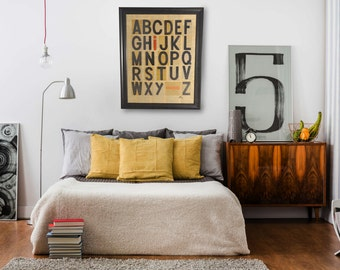 Repurposed Alphabet made from Old Marque Sign Letters. 1 of 3 in an edition. Typography Art, Typographic Design, Graphic Design