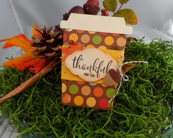 Fall Coffee Cup Gift Card Holder -- Gift Card Holder for Coffee -- Gift Card Holder -- Coffee Card -- Coffee Gift Card Holder