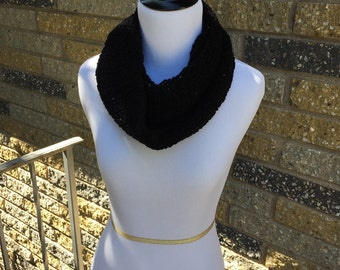 Midnight Sequin Infinity Scarf