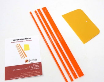 Cartonnage tools set of spacers and spatula_corner tool NOT included