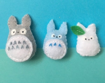 Totoro felt fridge magnets