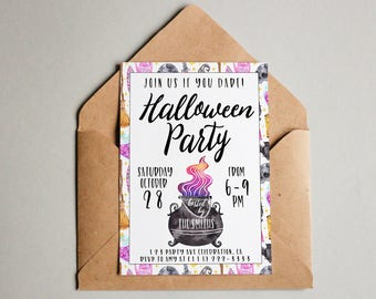 printable halloween party invitation halloween invite halloween printable halloween party editable halloween party invitation template