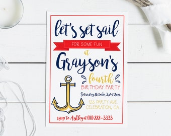 nautical invite etsy
