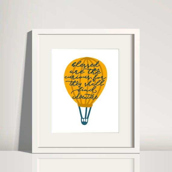 Hot Air Balloon Inspirational Wall Art Inspirational Quote Etsy