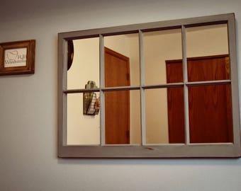 Antique Window Turned Mirror