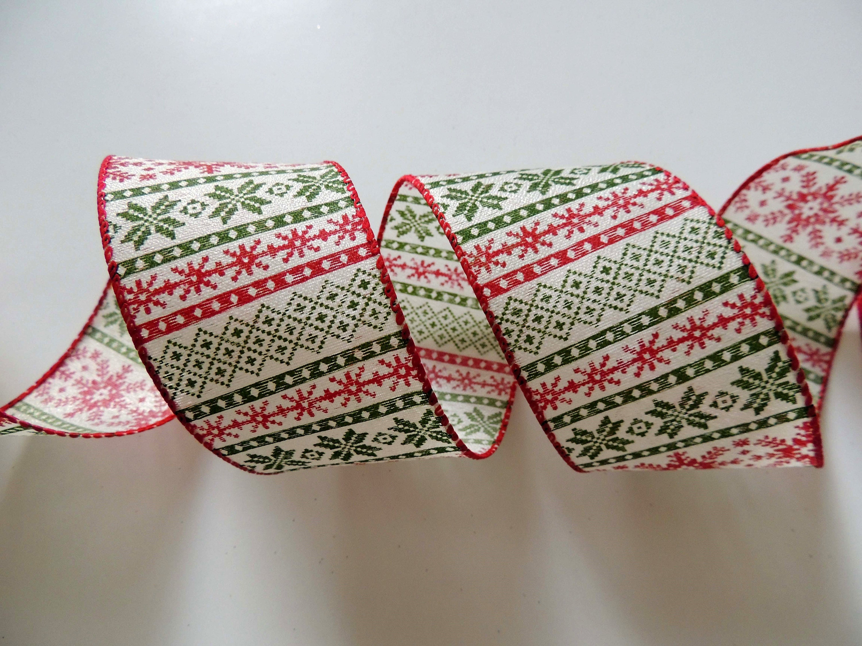 zoom - Burlap Christmas Ribbon