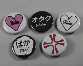Otaku - Anime Pinback Buttons/Badges