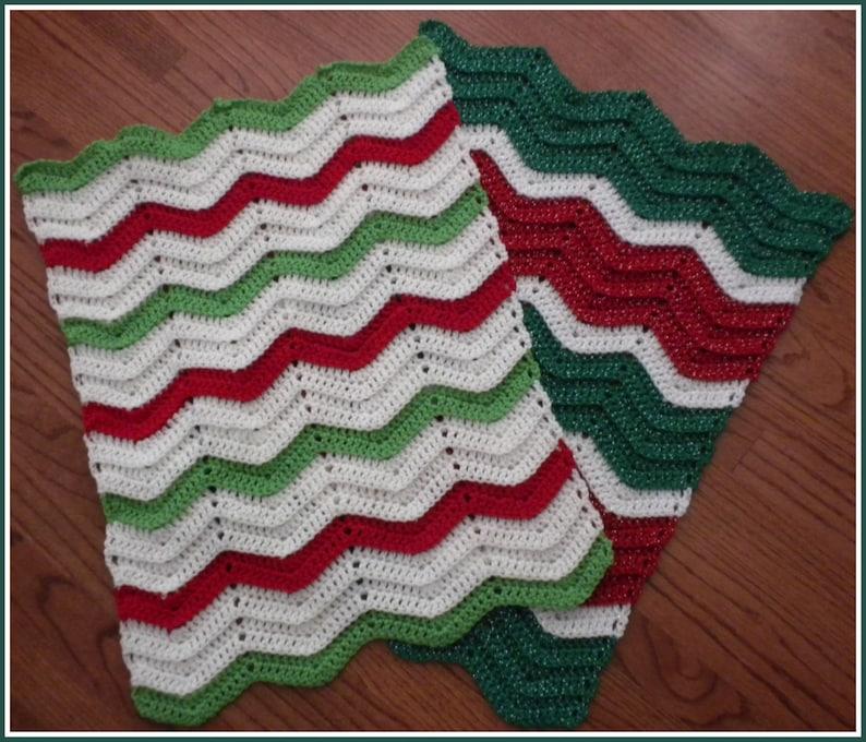 Peach and White Baby Blanket Handmade Crochet Jade Green